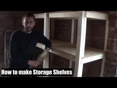 How to build strong storage shelves - Wood cutting & drilling tips! Garage workshop shelving.