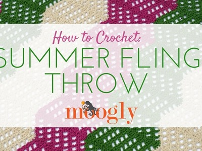 How to Crochet: Summer Fling Throw (Left Handed)