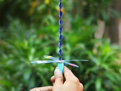 How to Make a Flying UFO Propller Toy Sky Spinner - With Plastic Ruler