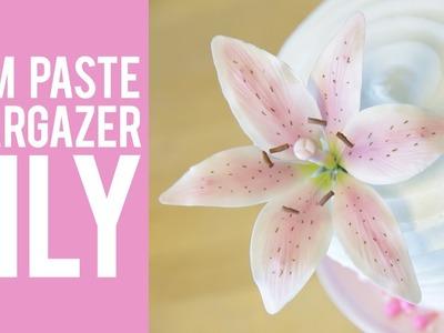 How to Make a Gum Paste Stargazer Lily