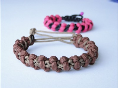 How to Make a Shamballa.Macrame Style Paracord Survival Bracelet-Mad Max Style Closure