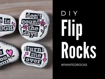 How To Make DIY Painted Flip Rocks