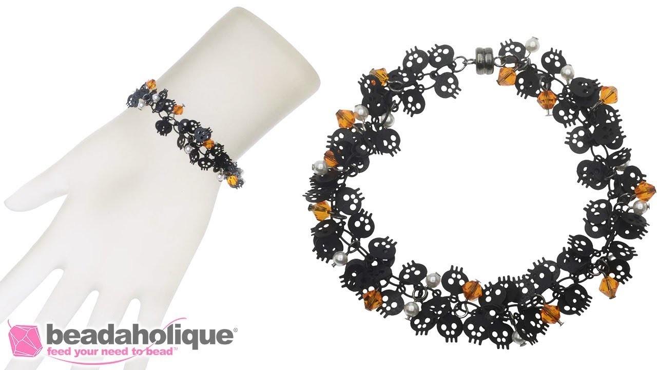 How to Make the Halloween Skull Charm Chain Bracelet