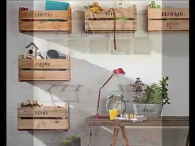 Ideas de estanterias con cajas de fruta - Ideas of furniture made from fruit boxes