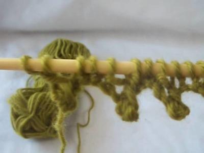 Knit Cast on Picot