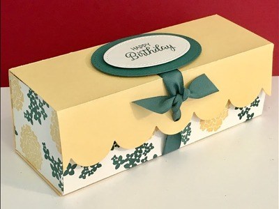 Large Elegant Gift Box with Beautiful Bouquet - Video Tutorial with Stampin' Up Products