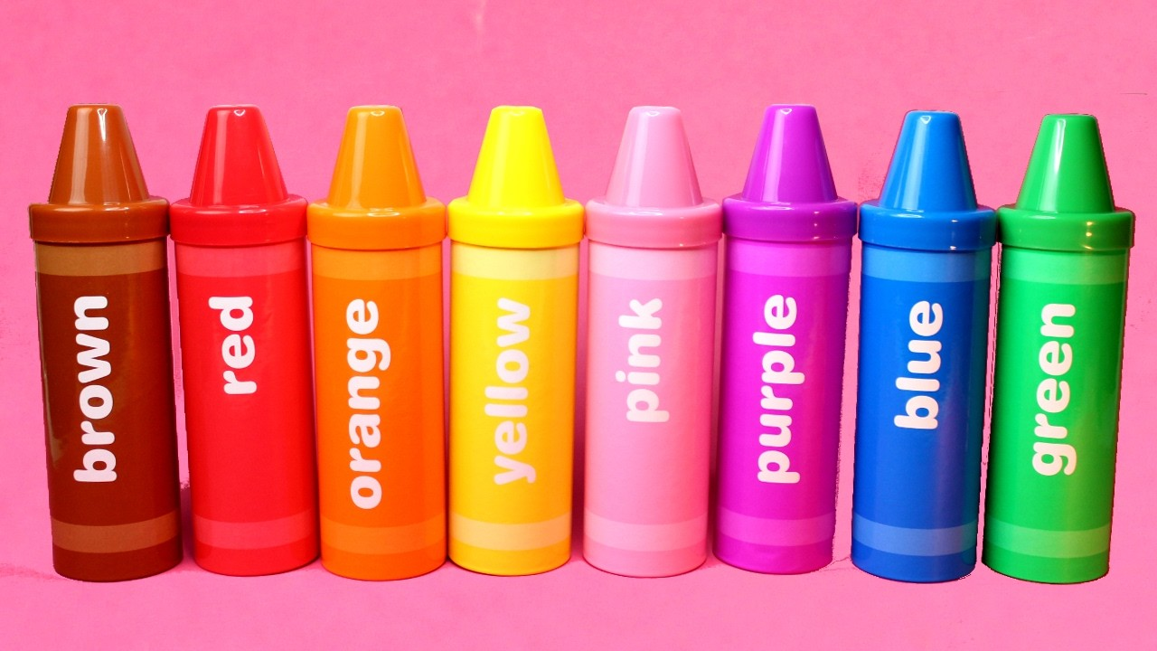 Learn Colors with Crayons and Toy Surprises - Learn Colours Sorting Pencils