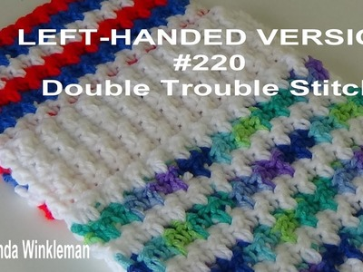 LEFT-HANDED VERSION Stitch of the Week #220 Double Trouble Stitch
