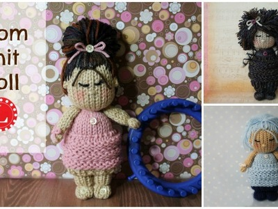 LOOM KNIT Dolls - Toys Cupcake Doll Project Pattern | Doll Hair Cloths on a  24-peg loom | Loomahat