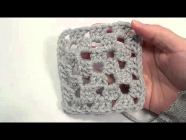 Monochrome Granny Square - Left Hand Version