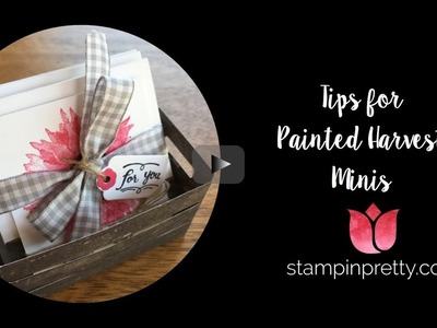 Painted Harvest 3 x 3 Mini Card Gift Idea