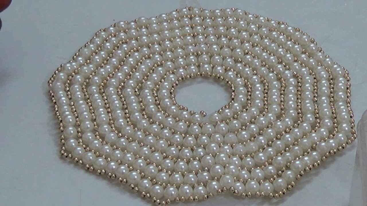 Part 2 - Make pearl dress for your thakurji - No fabric only pearls.  beaded pearl dress