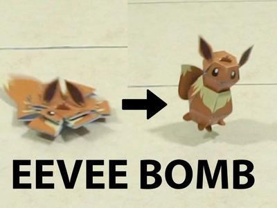 Pokemon Bomb - Papercraft Eevee Tutorial (Penguin bomb inspiration)