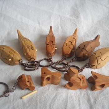 puzzle fish keychain