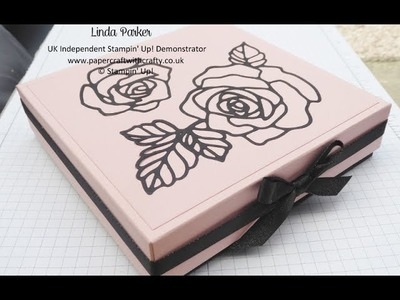 Stampin'  Up! Large Reinforced Gift Box with Rose Garden Thinlits Die insert
