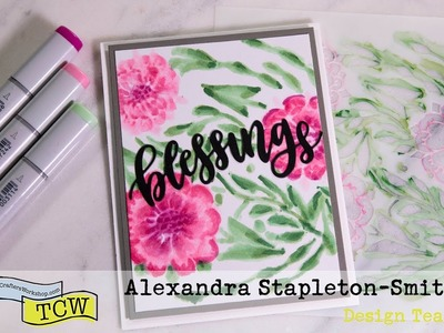 Stretching your stencils: How to produce stunning no line coloring with stencils and copic markers