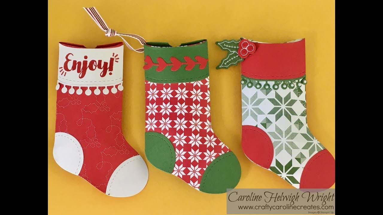 Trim Your Stockings Pillow Boxes - Video Tutorial with New Stampin' Up Products