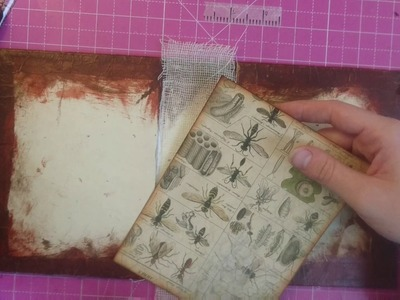 Tutorial - Junk Journal - Covering Inside Cover