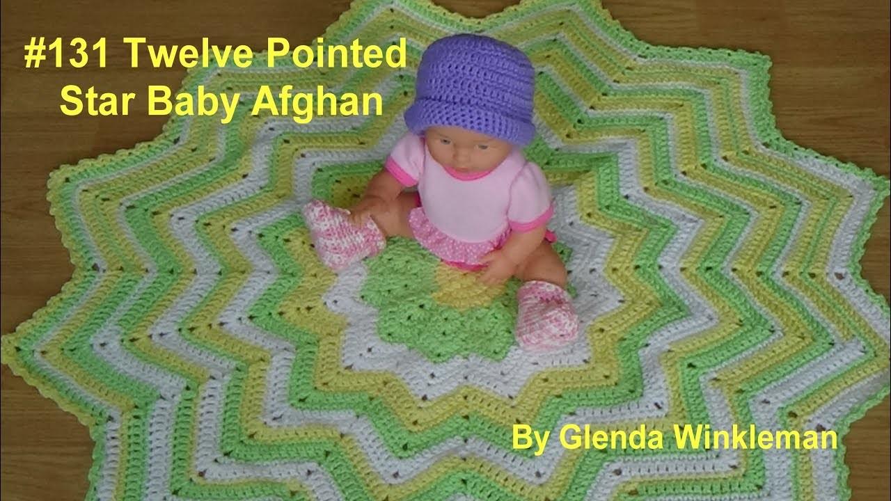 Twelve Pointed Star Baby Afghan Premier Yarns Sweet Rolls