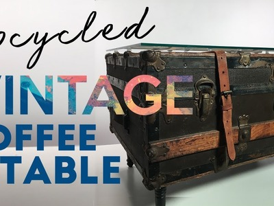 Upcycle: Vintage Suitcase into Coffee Table with Storage!