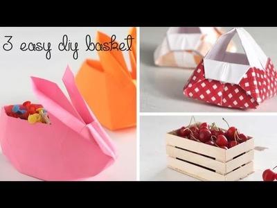 3 Easy DIY Baskets