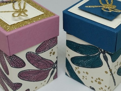 #5 Spring.Summer Sunday cute Dragonfly dreams box for 4 Tealights