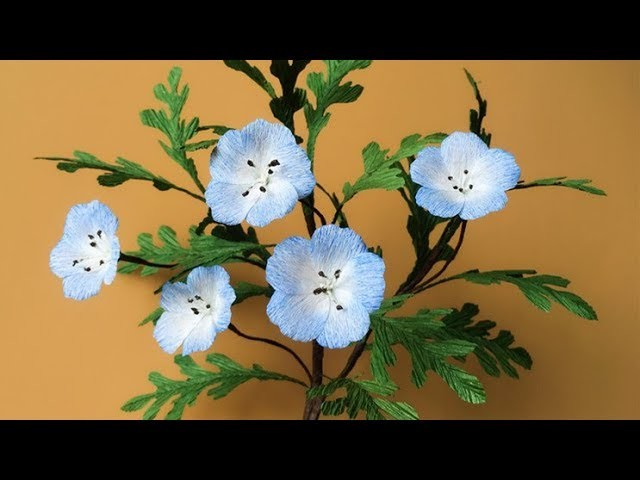 ABC TV | How To Make Baby Blue Eyes Paper Flower From Crepe Paper - Craft Tutorial