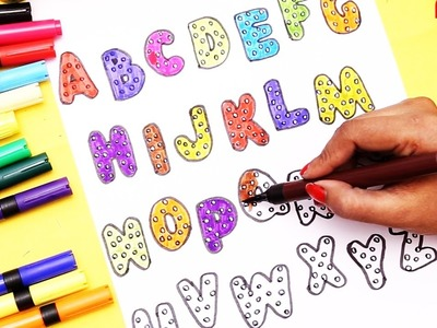 Alphabets for Kids to Learn Drawing Alphabets and Coloring Learning Colors For Children