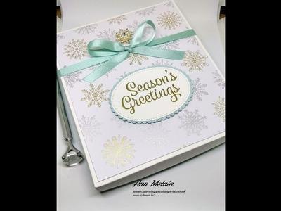 Beautiful Presentation Box For My Double Diamond Fold Card