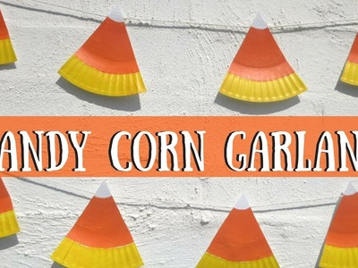 Candy Corn Garland | Halloween Crafts for Kids