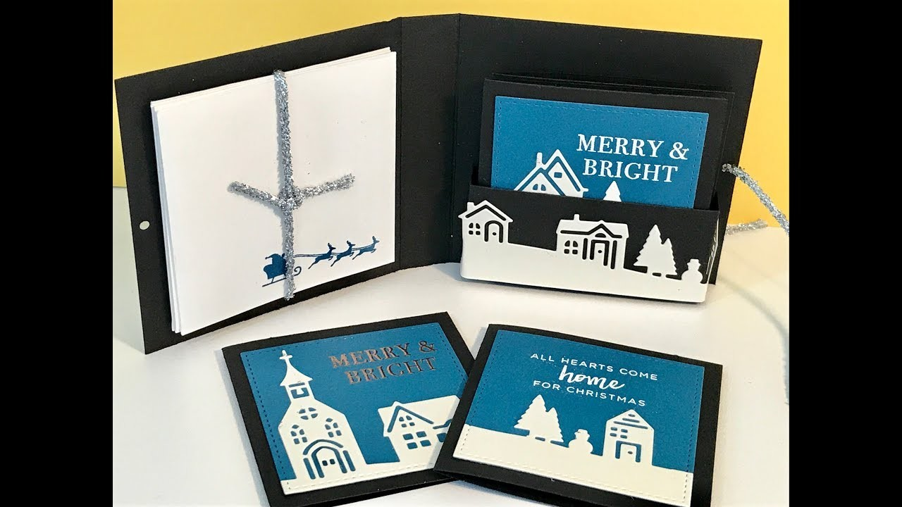 Christmas Card Set with Hearts Come Home by Stampin' Up - Video Tutorial