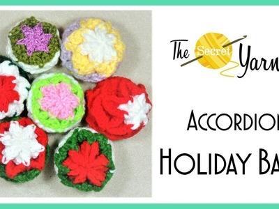 CROCHET -  Accordion Holiday Balls