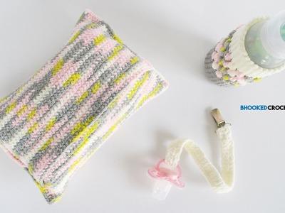 Crochet Baby Shower Gift Set Left Handed