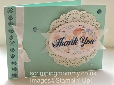 Daisy delight NO PUNCH card Stampin' Up! products