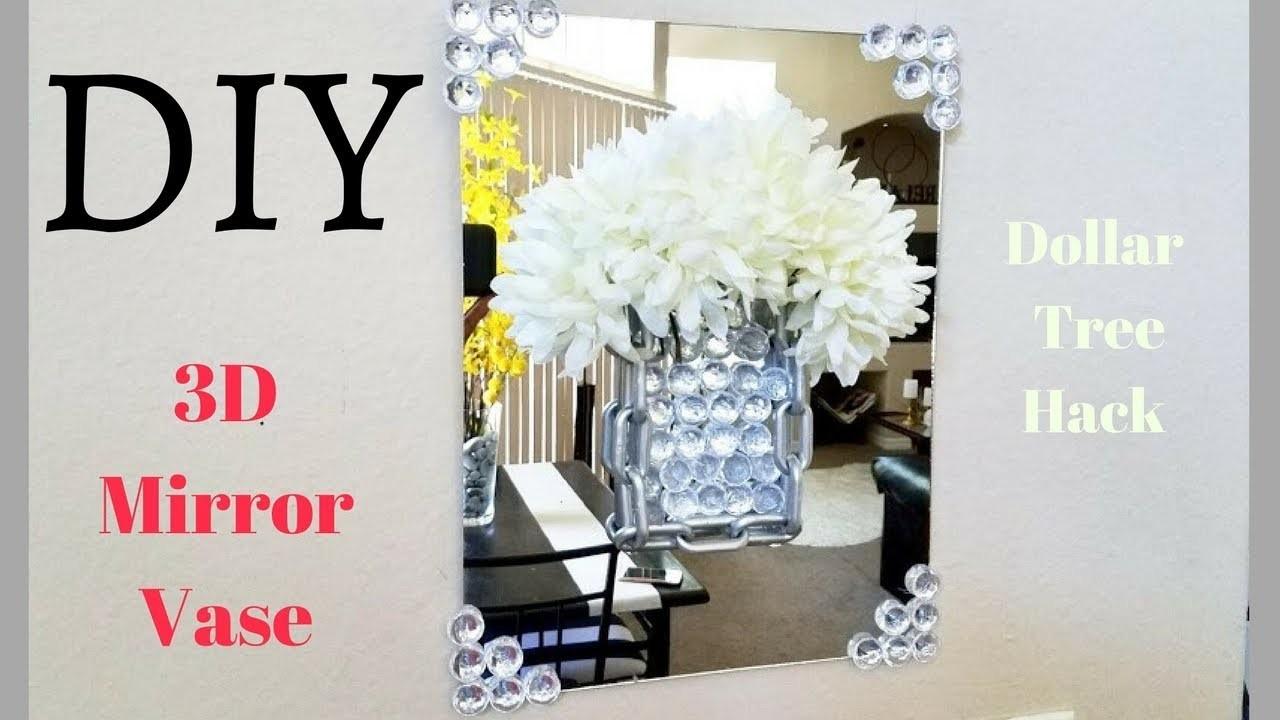 Diy 3d Mirror Flower Vase As A Room Decor Idea Using
