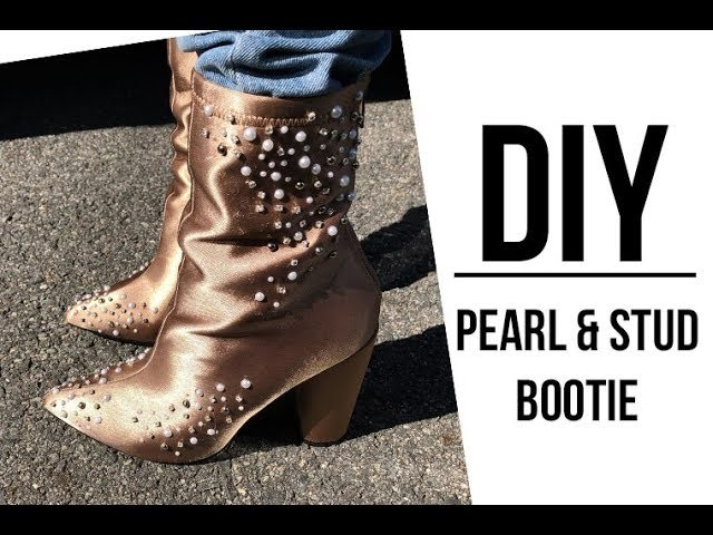 DIY: Pearl and Stud Bootie  Zara Inspired