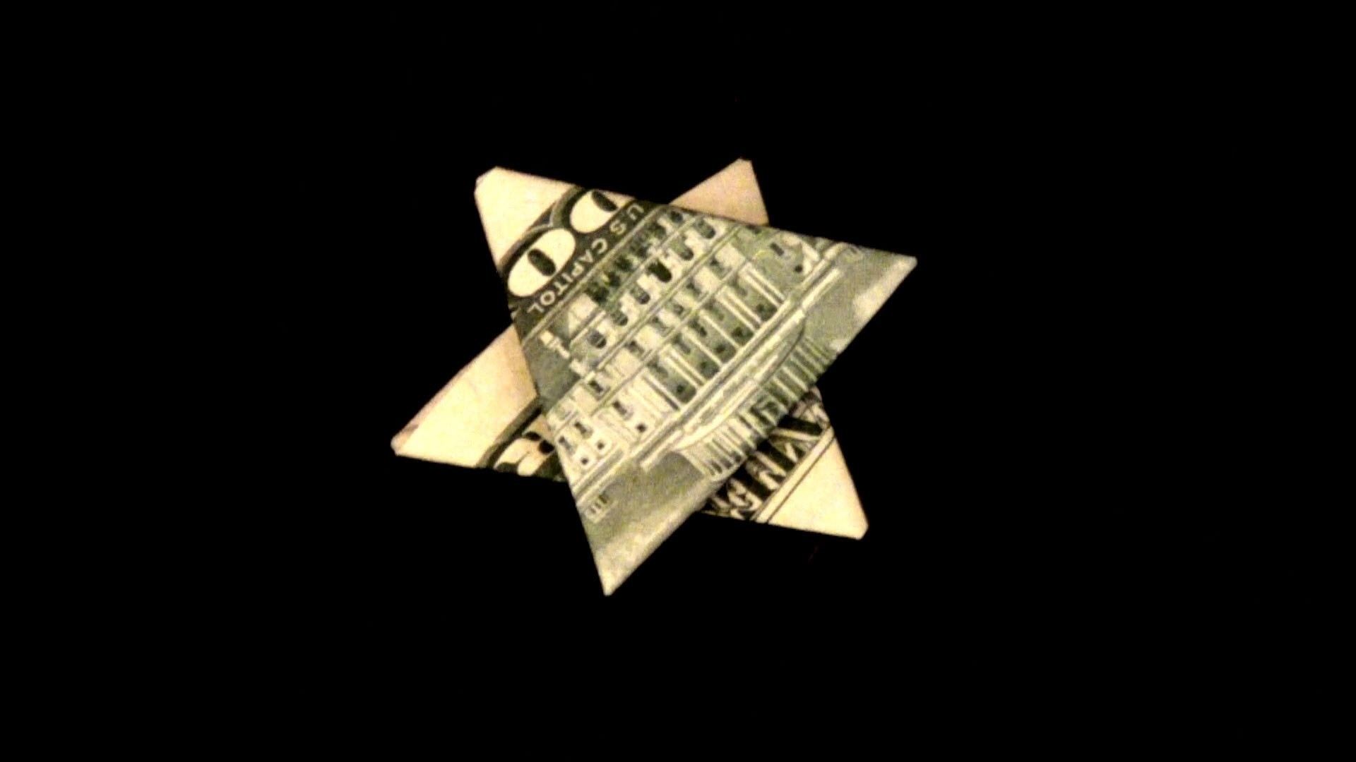 Dollar Star Tutorial - How to make a Star of David with a dollar.