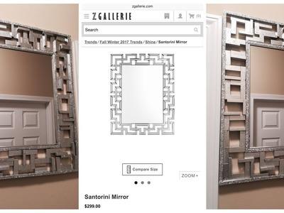Dollar Tree DIY - ????Z Gallerie Inspired Wall Mirror????