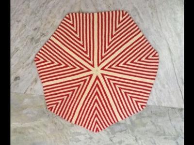 Easy Knitted Mat.Thalposh Design Hindi