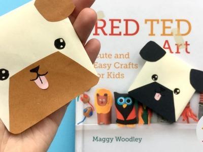 Easy Pug Corner Bookmark   Bulldog, Box, Pug   Bookmark DIYs