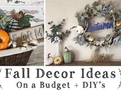 Fall Decor Ideas On A Budget \ Dollar Tree, Target $1 Spot  & Walmart