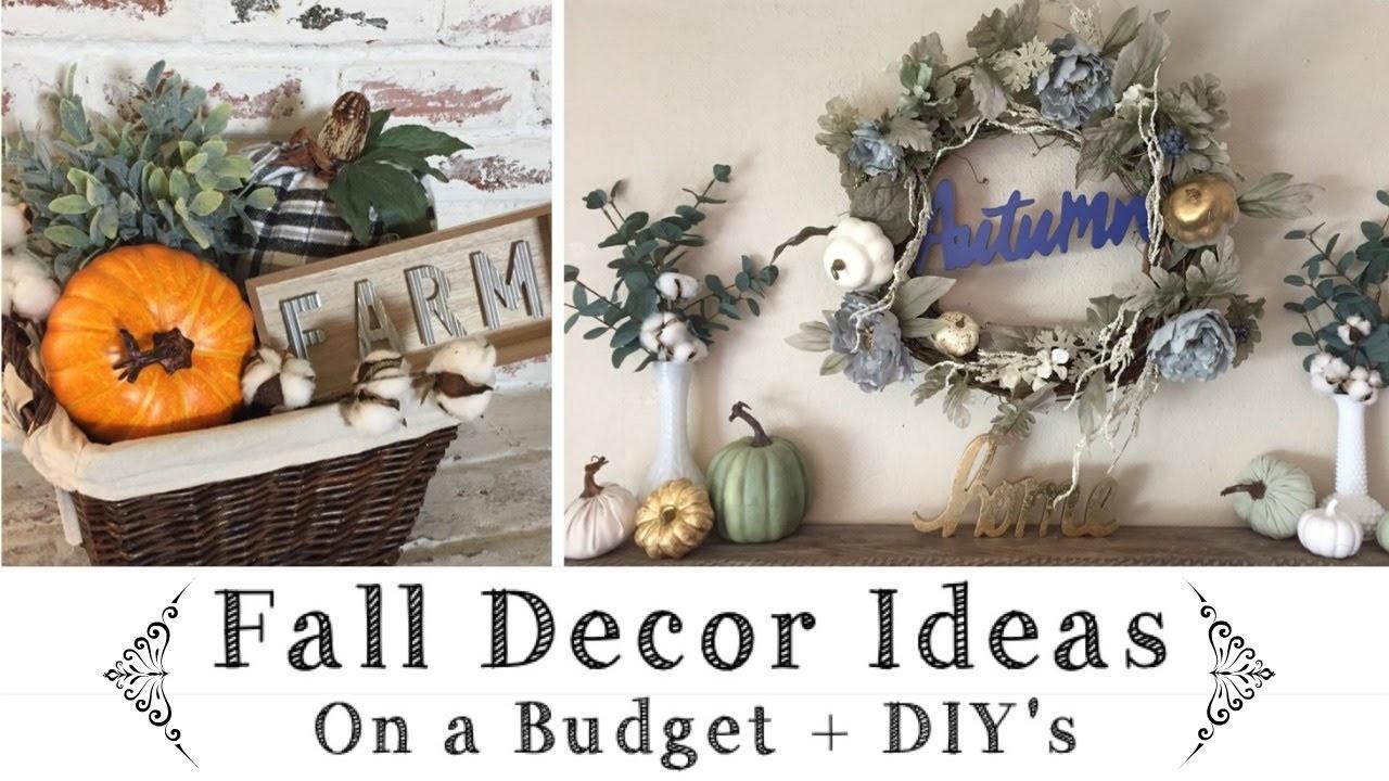 Fall Decor Ideas On A Budget \ Dollar Tree, Target $1 Spot  & Walmart