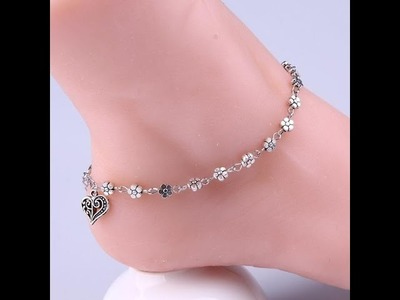 FANCY ANKLET COLLECTION,LOW WEIGHT ANKLET DESIGNS