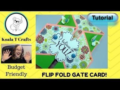 Flip Fold Gate Card Double Gate Fold TUTORIAL Easy, Fast, fancy fold diy handmade card