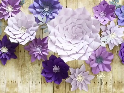 FREE paper flower tutorial from Seattle Giant Flowers