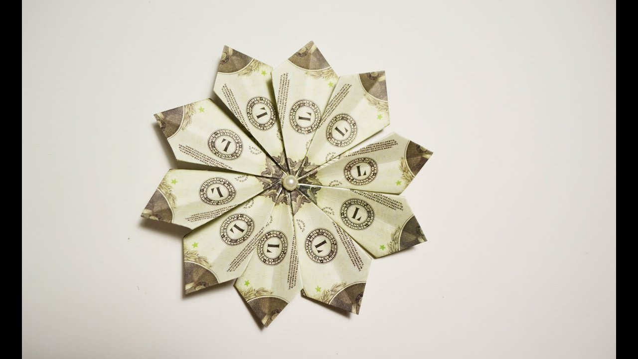 Gorgeous Money Flower Origami Dollar Folded No Glue Tutorial Diy