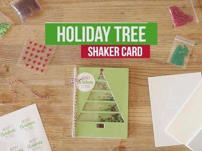 Holiday Tree Shaker Card Kit