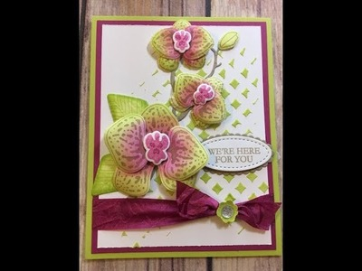 How to Create a Climbing Orchid Card