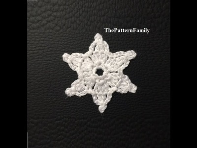How to Crochet a Star Ornament Pattern #54│by ThePatternfamily