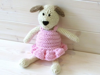 How to crochet an animal. doll ballet dress - Wooly Wonders Crochet Animals